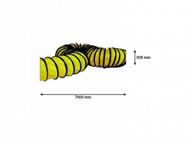4031.403 HOSE 508MM X 760 CM YELLOW